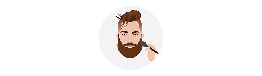 applicare la tinta per barba